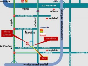 แผนที่ตึกแถวสุขุมวิทด่านสำโรง28