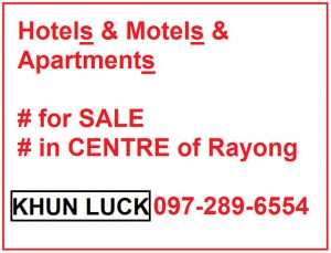 Hotels Apartments and Motels for sale Pattaya,Rayong,chonburi