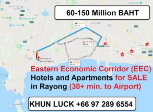 Cheapest Hotels, Apartments and Motels for sale in Pattaya, Rayong, Chonburi